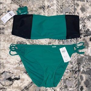 Abercrombie swim suit top and bottom